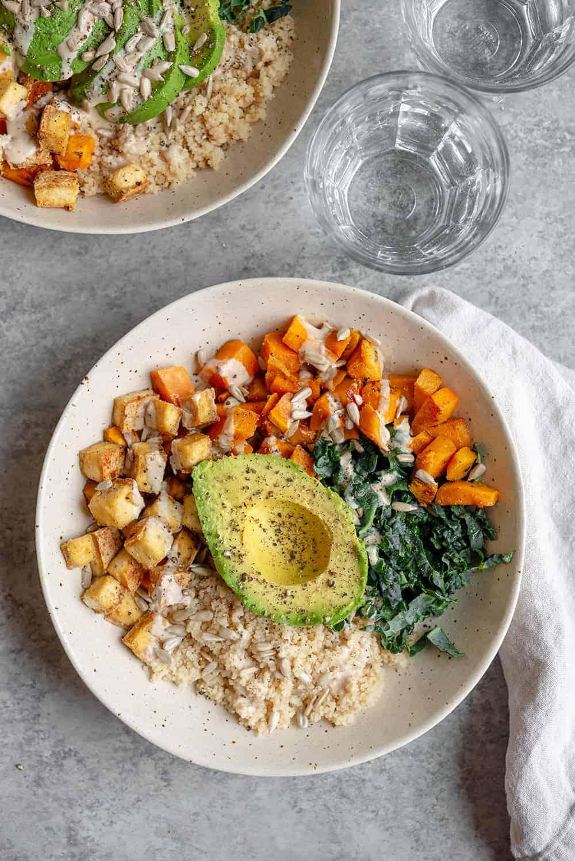 sweet potato vegan buddha bowl