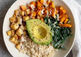 Sweet Potato Vegan Buddha Bowl