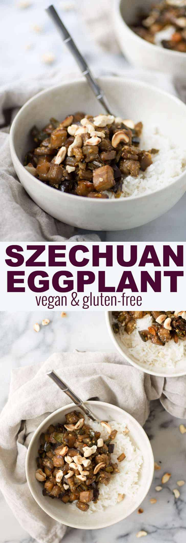 Szechuan Eggplant! This spicy eggplant is so delicious, a must-make! If you like spicy food then you must try this one. Vegan and Gluten-Free. | www.delishknowledge.com