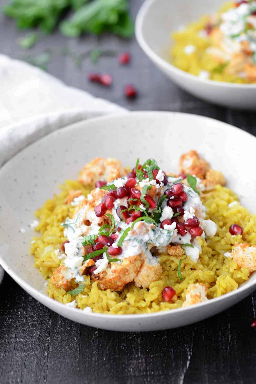 turmeric rice with tandoori cauliflower