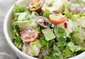 Tarpon Springs Greek Salad with Potato Salad