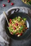 You've gotta try this tart cherry and farro salad! A delicious potluck salad for summer. Fresh cherries, farro, arugula, hazelnuts, feta and a tangy molasses dressing. Gluten-free and vegetarian. | www.delishknowledge.com