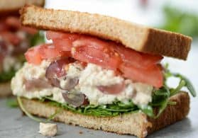 Tofu Chicken Salad Sandwich + Video