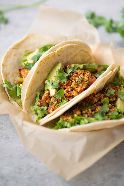 Vegan Copycat Chipotle Tofu Sofritas tacos