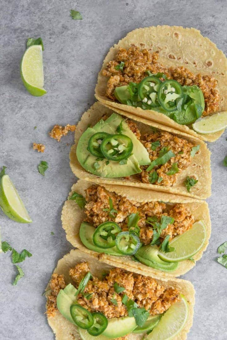 Vegan Tofu Tinga Tacos