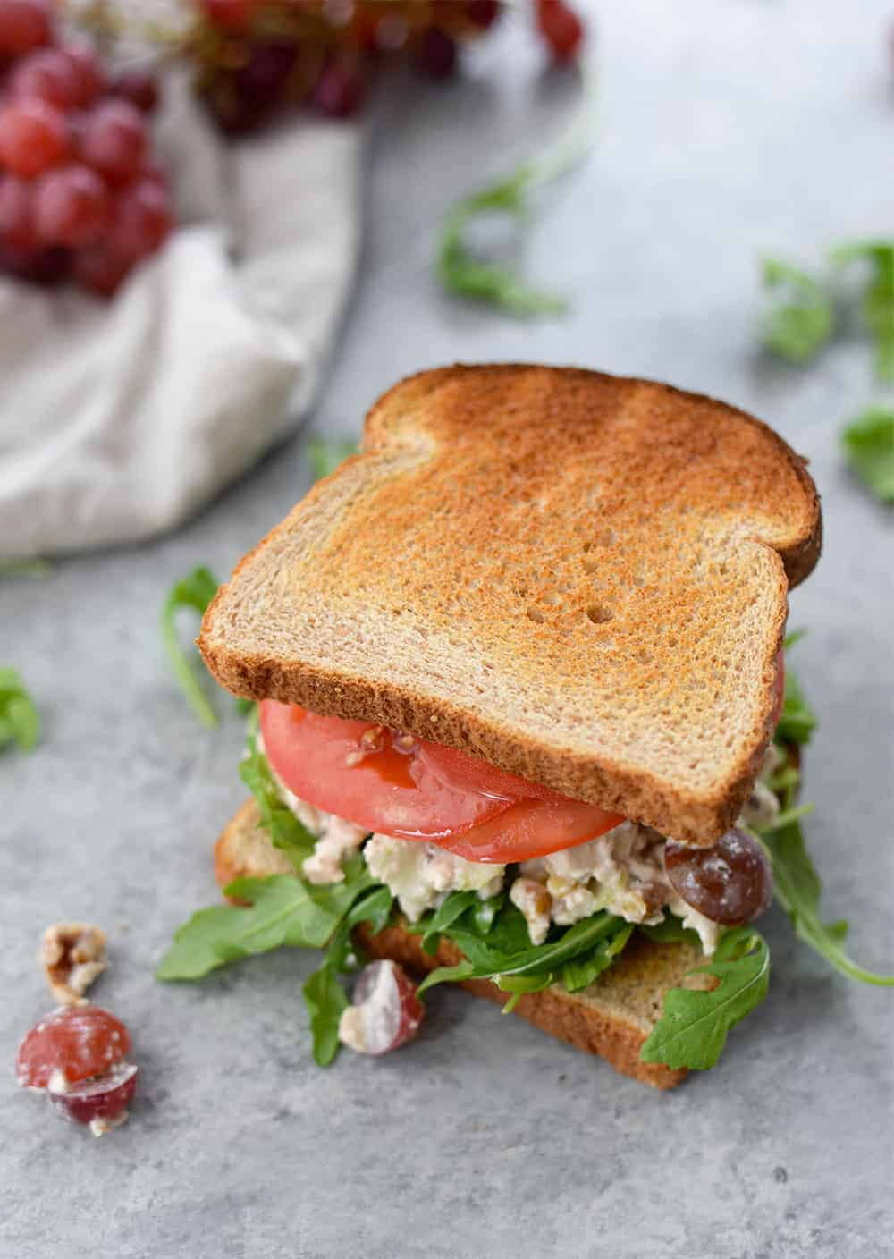 Vegan Tofu Chicken Salad Sandwich