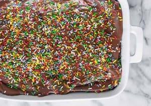 Vegan Sprinkle Brownies