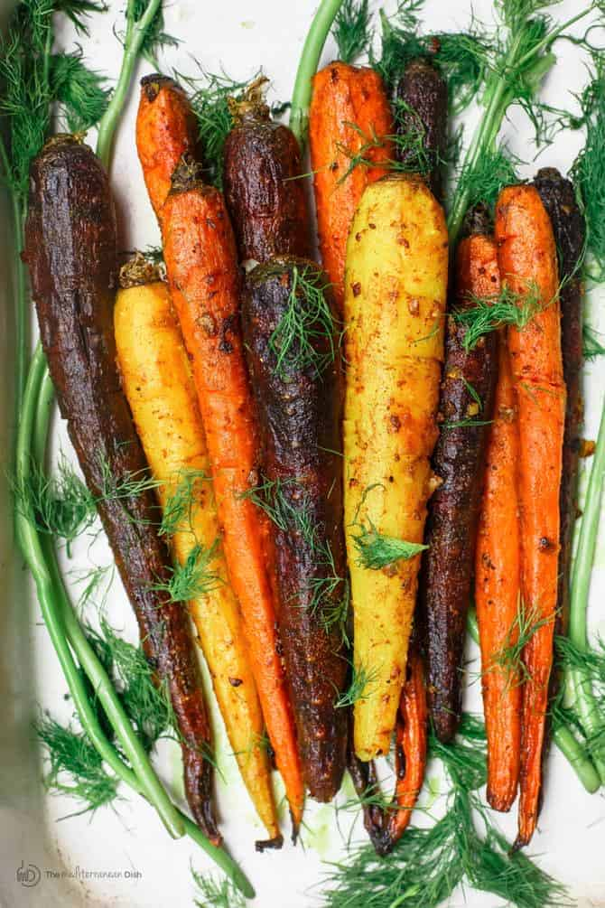 Roasted Carrots Recipe with Turmeric