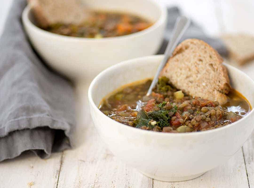 Vegan Tuscan Lentil Soup