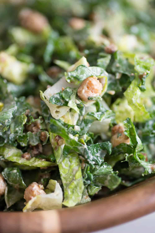 protein vegan caesar salad