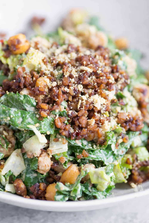 protein kale caesar salad