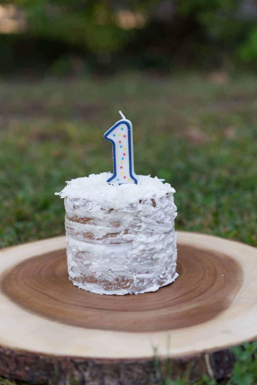 healthy vegan smash cake