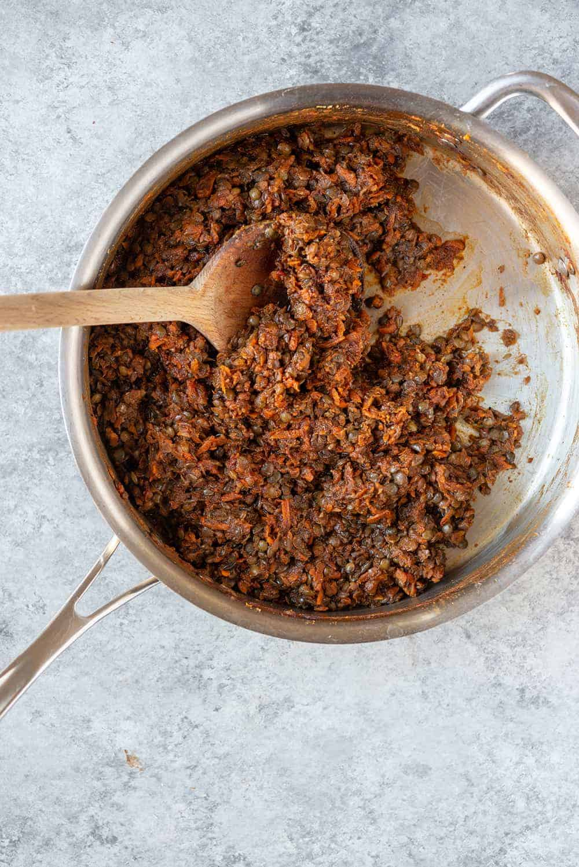 vegan bbq lentils
