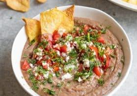 Vegan Bean Dip (With Homemade Tortilla Chips)