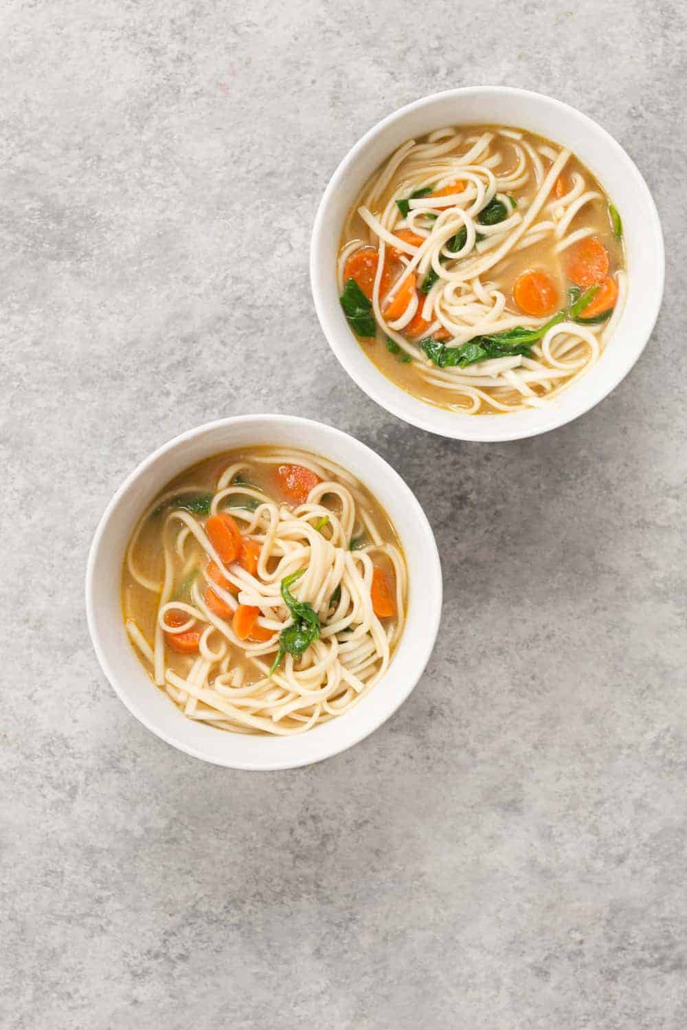 vegan chickenless soup