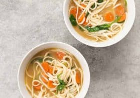 Vegan Chicken-Less Soup