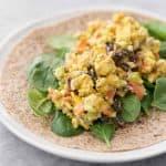 vegan curry tempeh wrap