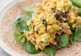 Curry Tempeh Salad Wrap