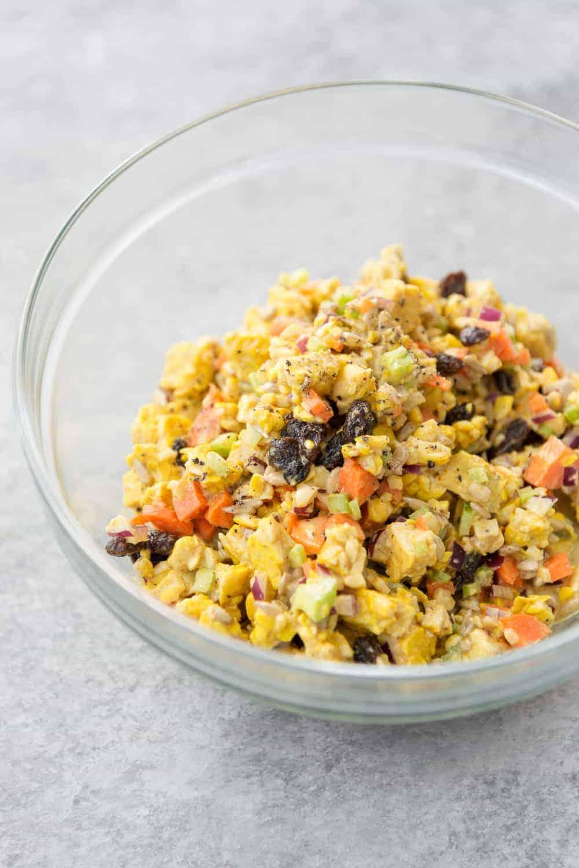 curry tempeh salad