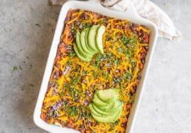 Healthy Vegan Enchilada Casserole
