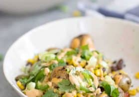 Vegan Grilled Potato Nacho Bowls
