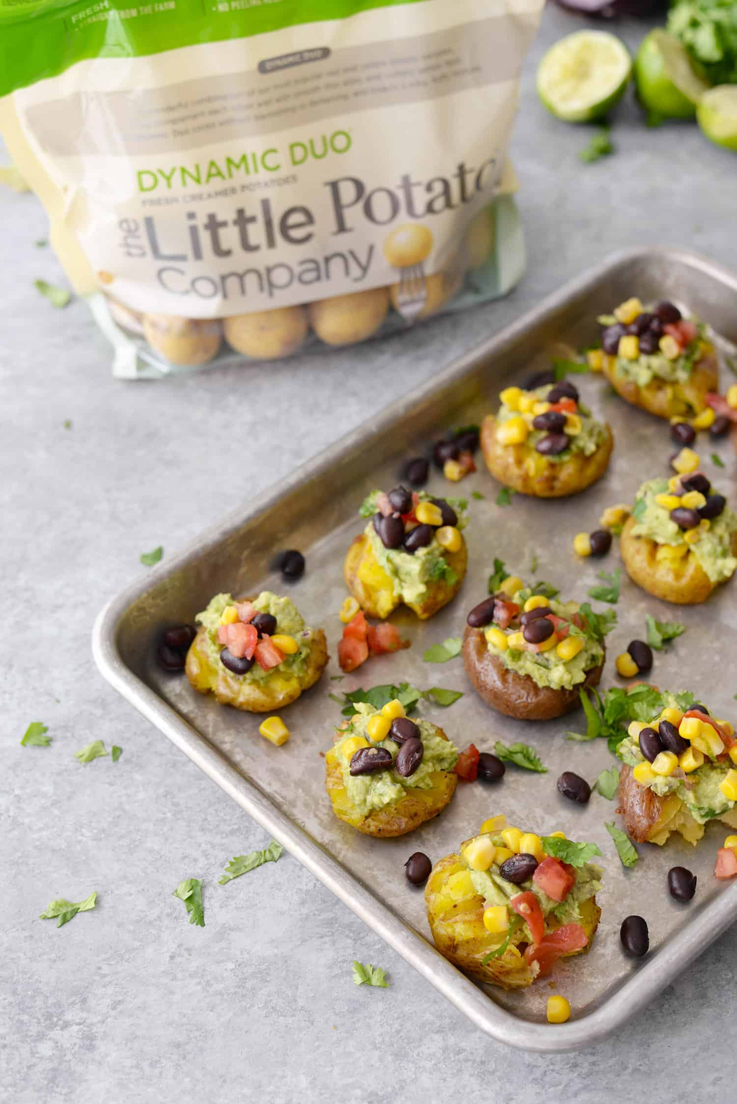 Vegan Loaded Smashed Potatoes!