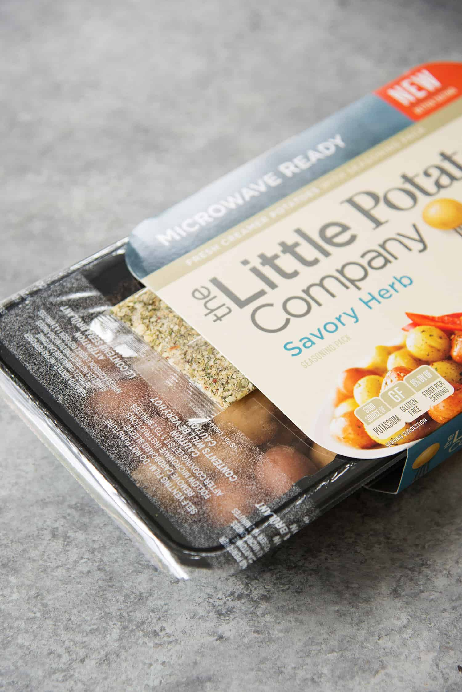 I used these Little Potato Company savory herb potatoes to make this recipe super quick and easy!