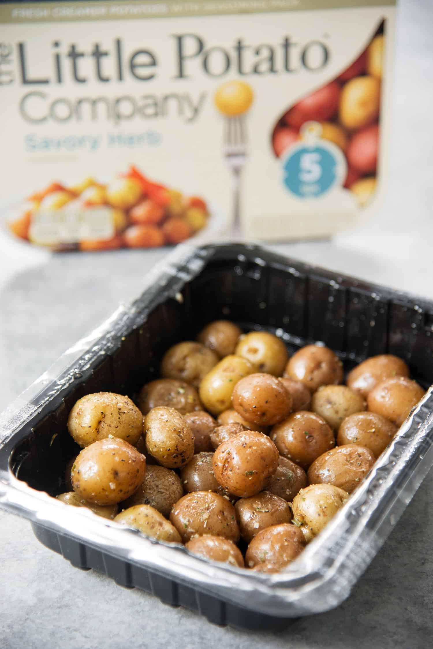 These Little Potato Company microwaveable potatoes make this recipe a breeze