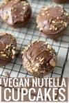 vegan nutella cupcakes