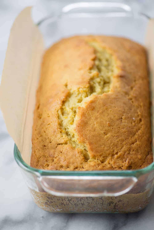 loaf of vegan orange olive oil cake