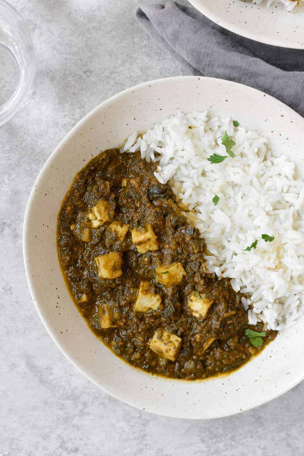slow cooker vegan saag paneer