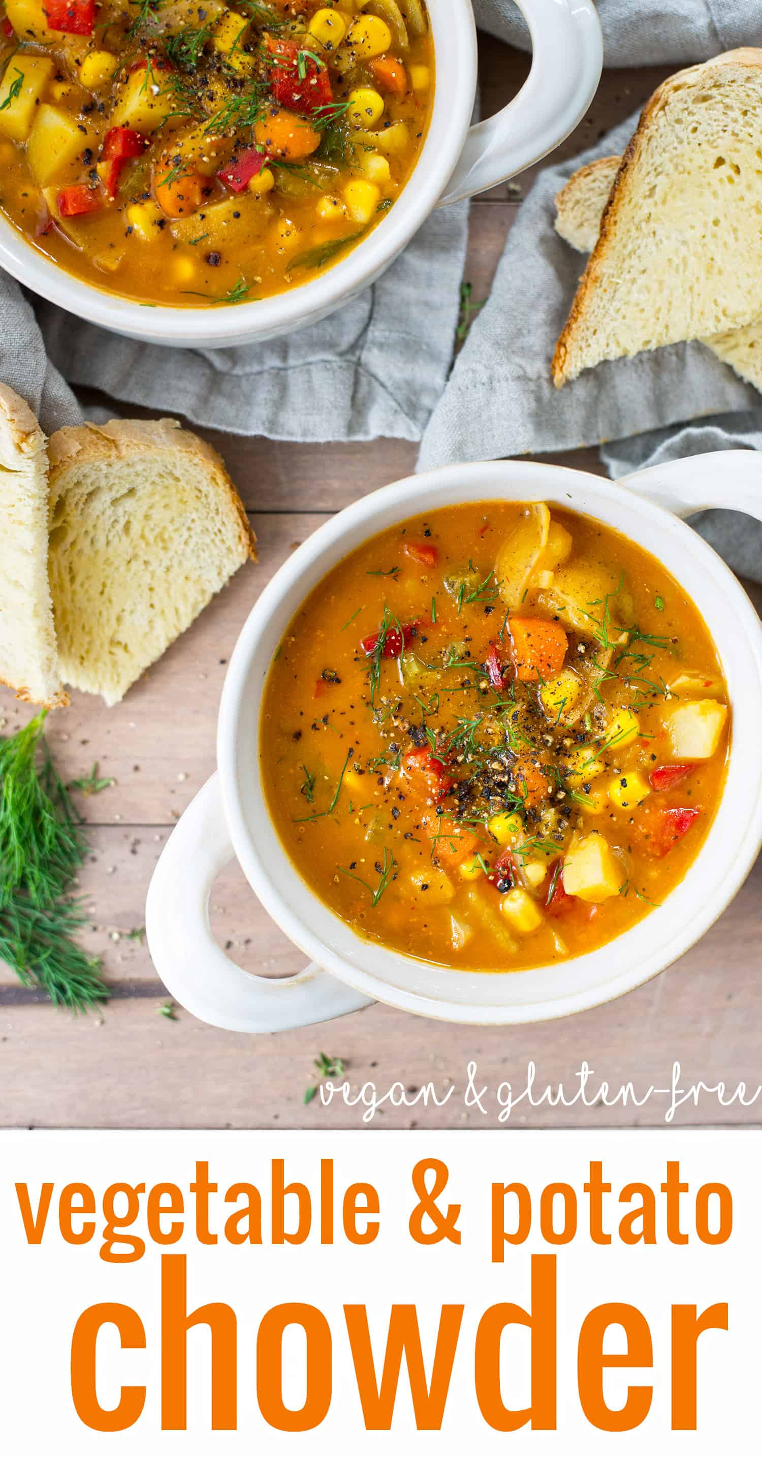 Vegan Vegetable and Potato Chowder! You are going to love this healthy ...
