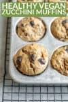 vegan zucchini chocolate muffins