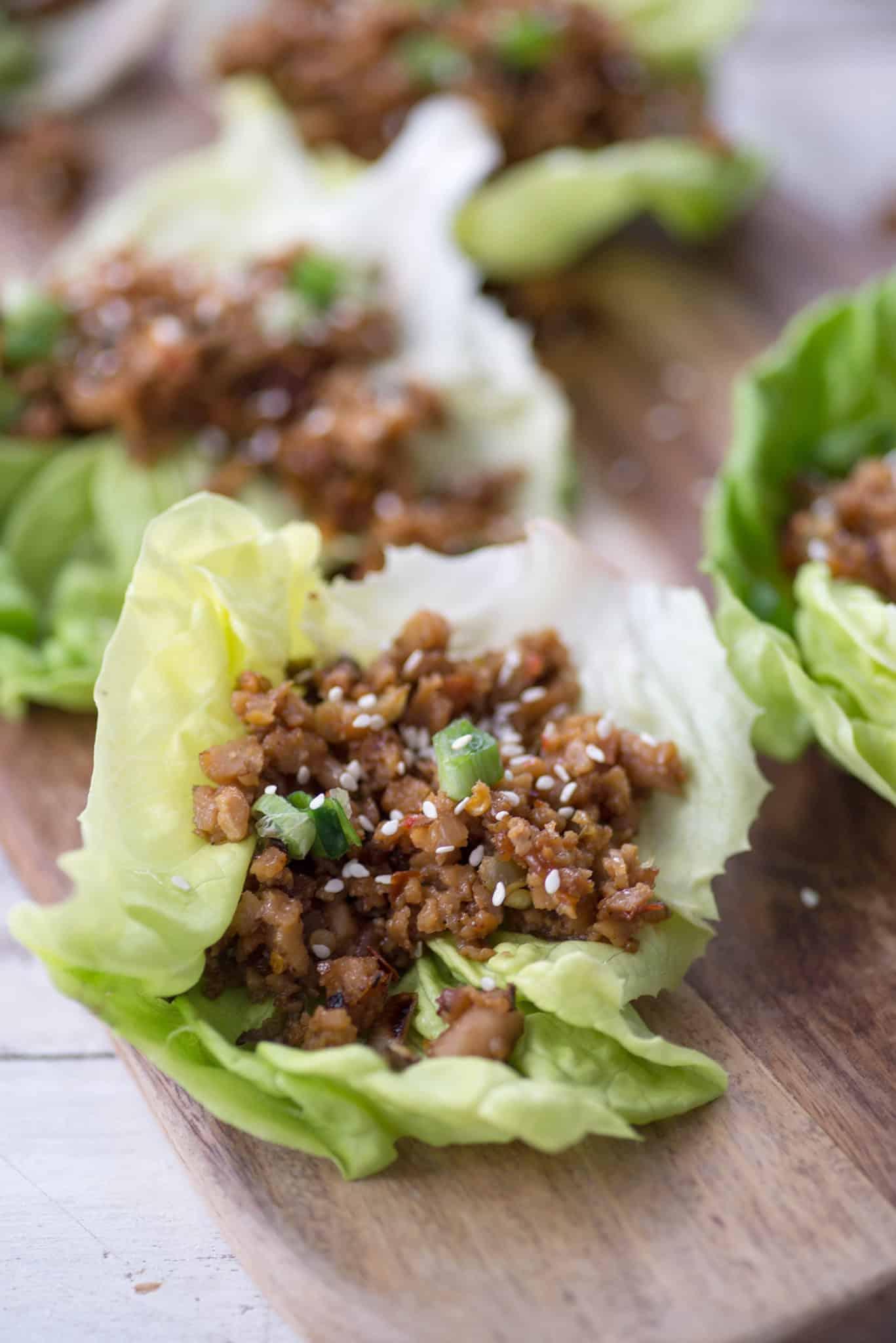 Thai Larb Lettuce Wraps