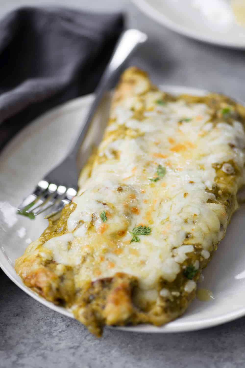 healthy enchiladas verdes