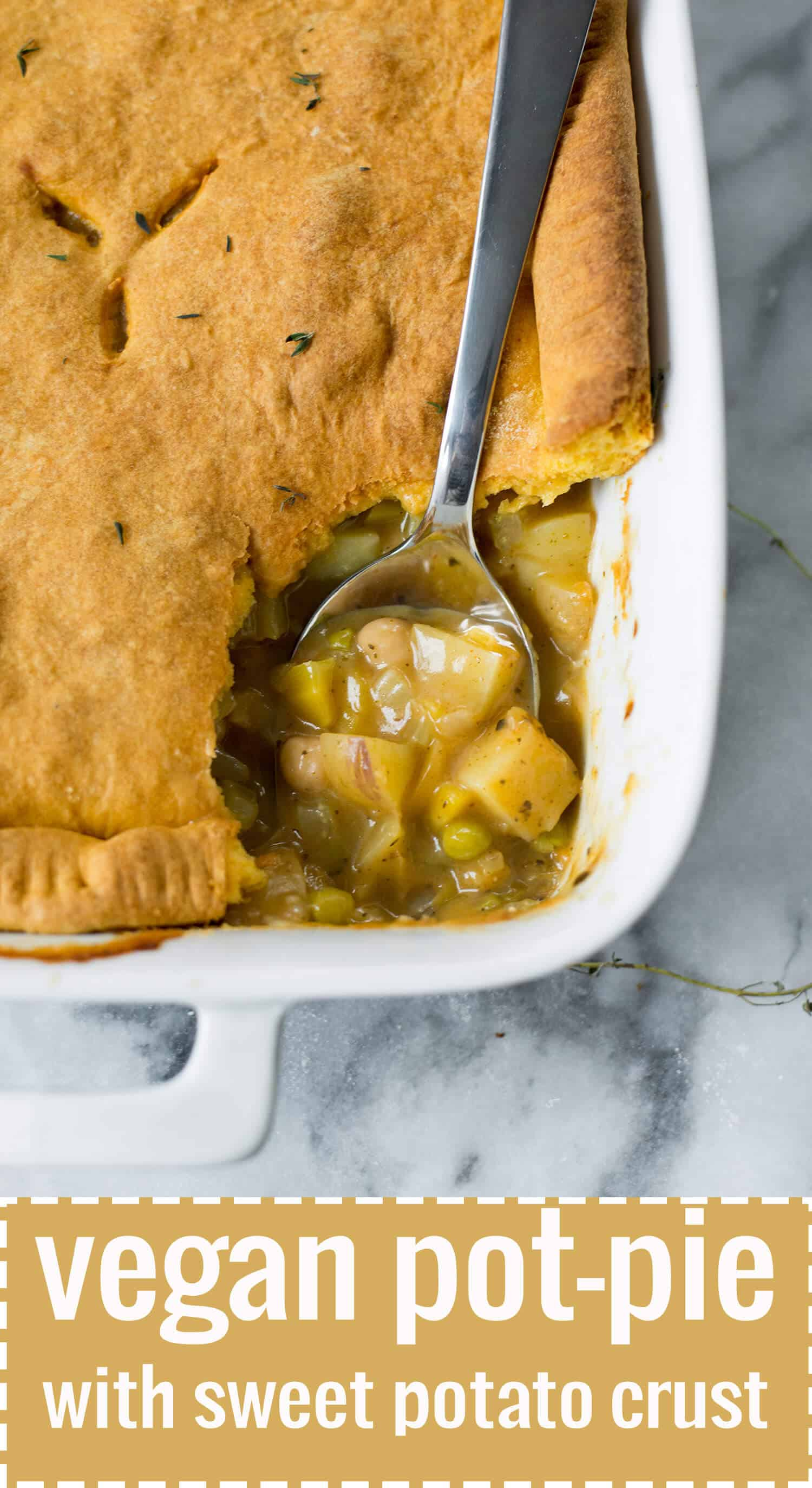 Vegan Pot Pie with Sweet Potato Crust. A cozy, must-make this winter. | www.delishknowledge.com