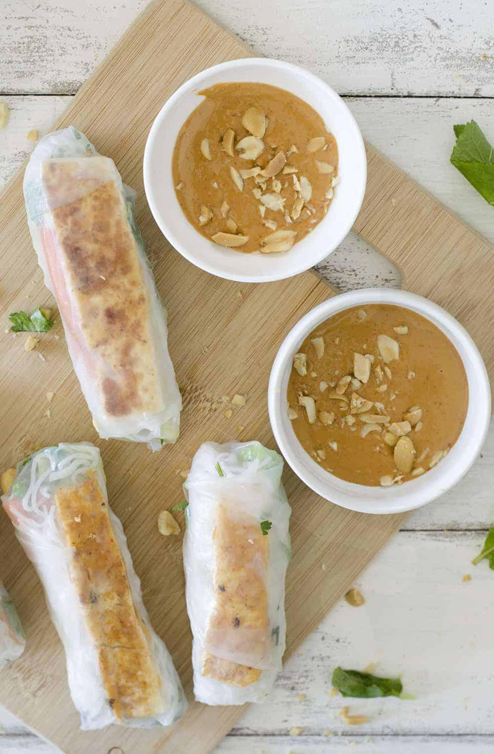 Vegan Vietnamese Tofu Spring Rolls - Delicious Knowledge
