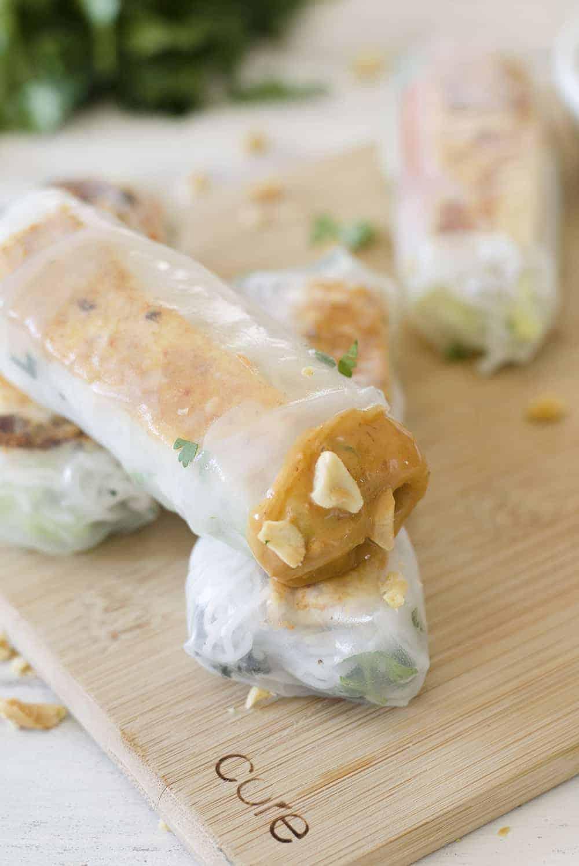Vegan Vietnamese Tofu Spring RollsDelish Knowledge