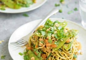 Zoodle Stir-Fry with Spicy Peanut Sauce
