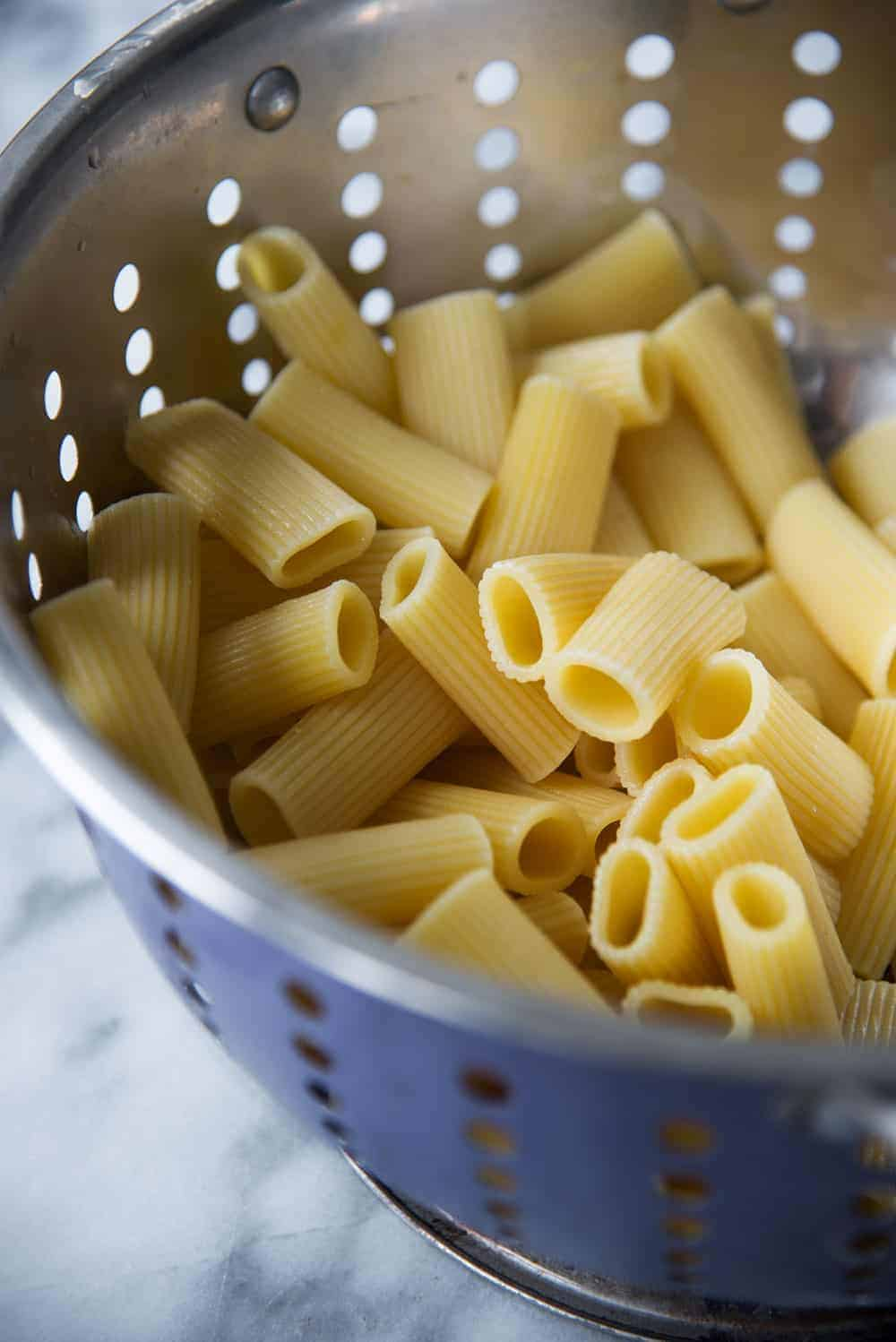 fresh cooked pasta