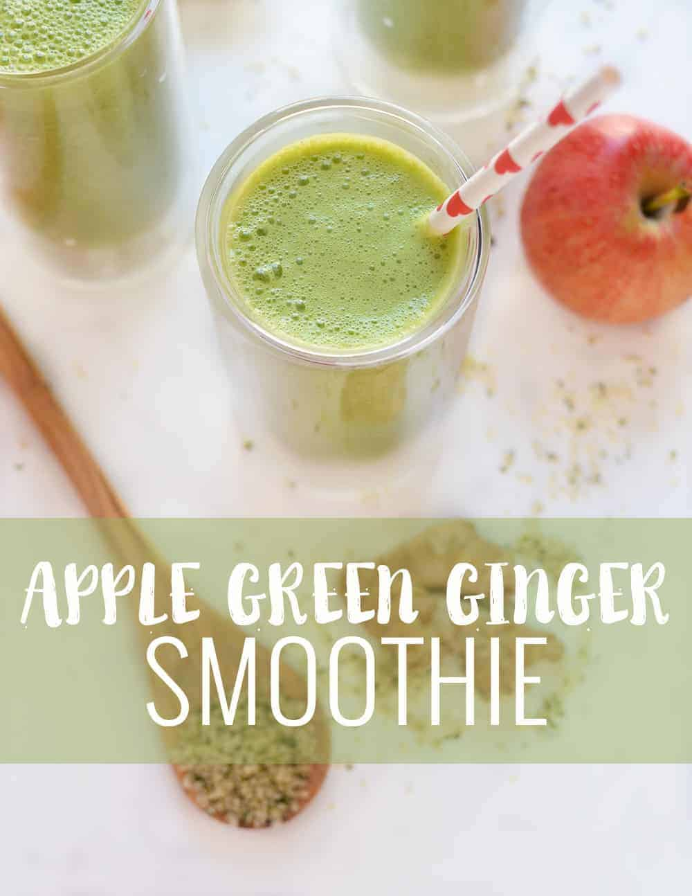 Apple Green Ginger Smoothie! This superfood smoothie is perfect, nutrient dense snack. Take a break from #pumpkineverything with this one! Apple & Ginger, perfect for fall.   www.delishknowledge.com