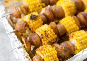 Cajun Potato, Corn and Sausage Kebobs5 (1 of 1)dquare