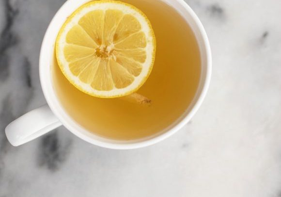 Healing Lemon Ginger Tea! You can make tea in your french press. Ginger, lemon and green tea combine in this healing tea for one. | delishknowledge.com