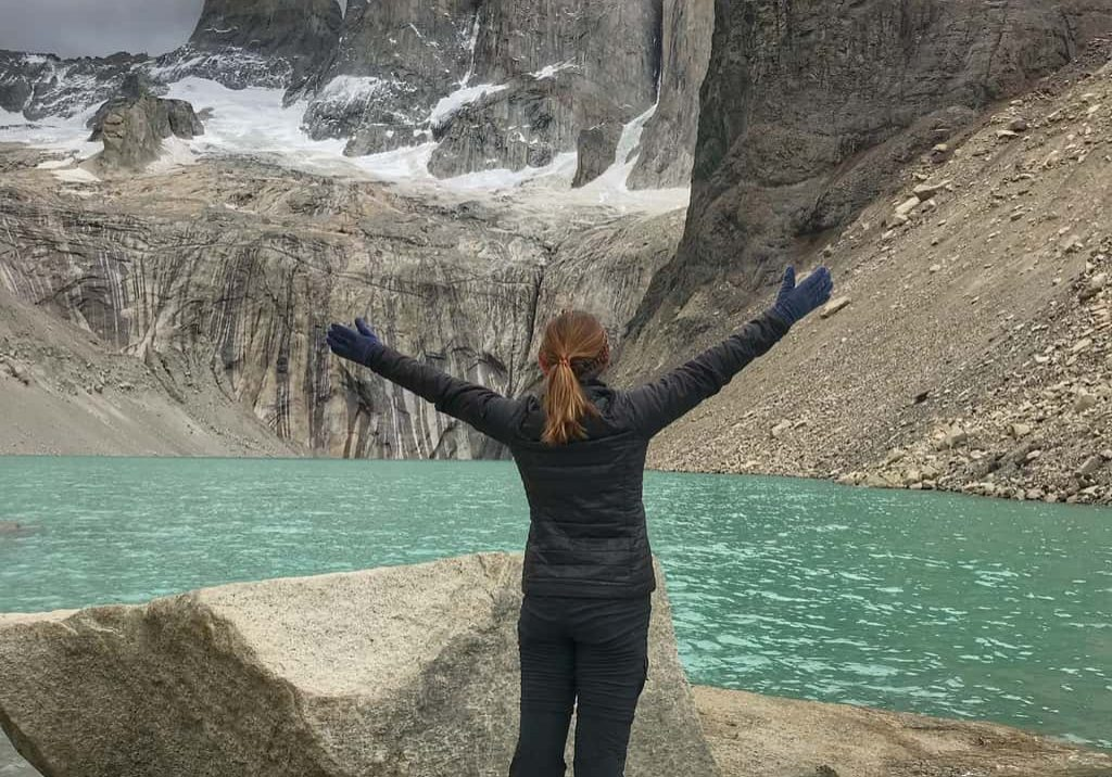 hiking the towers in Patagonia, Chile
