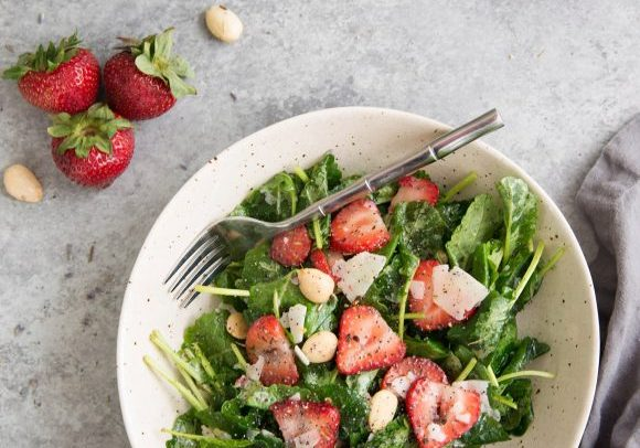 Strawberry Kale Salad with Lavender Dressing3