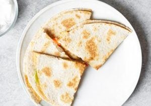 cheesy vegan quesadillas
