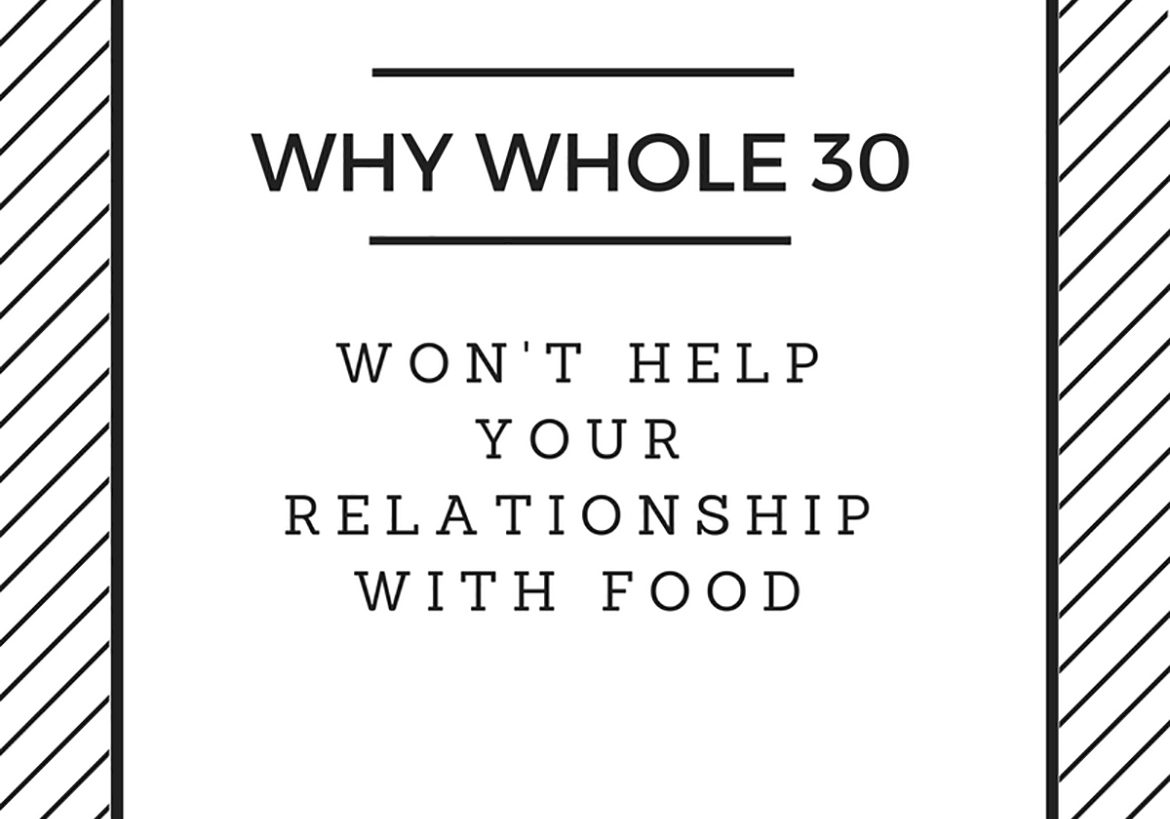 No, Whole30 won't help improve your relationship with food. In fact, it will likely make things worse. An Registered Dietitian breaks down why Whole30 isn't a good idea for freedom from food. | delishknowledge.com