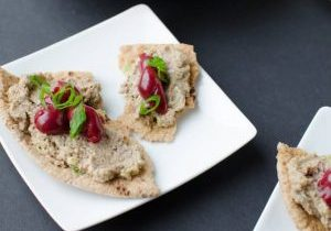vegan pate with cherries
