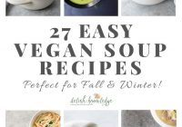 vegan soup recipes featured image