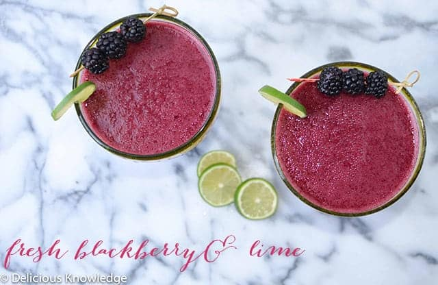 Fresh blackberry and lime margaritas recipe